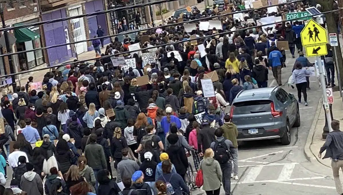 Peaceful Anti-Police Protest, March on April 18