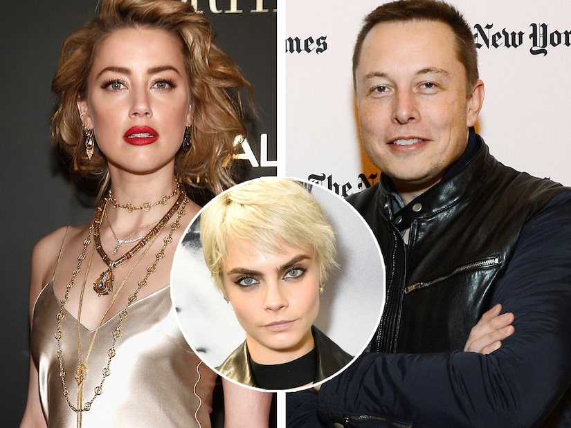 Elon Musk Denies Having a Threesome with Amber Heard and Cara Delevingne